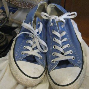 CONVERSE ALL STAR BLUE SNEAKERS SZ10*FRESHIPPING